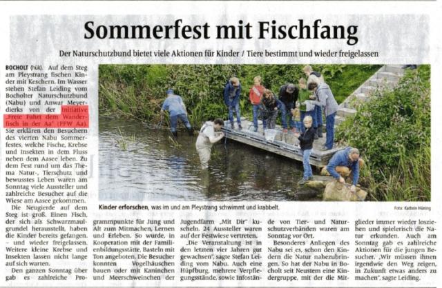 Sommerfest mit Fischfang